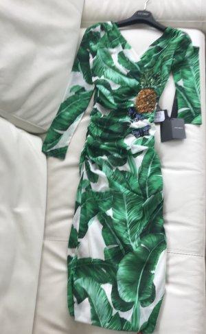 NEU Luxus DG Dolce & Gabbana Seide Made in Italy Kleid