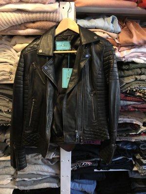 Neu LUXUS echte Lederjacke Kalbsleder Biker Jacket Black Jacke Leder schwarze schwarz