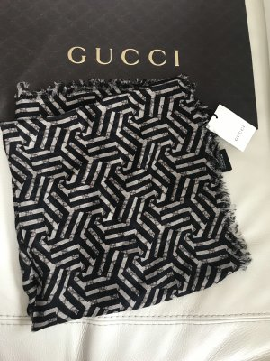 Gucci Bufanda de lana negro-marrón claro