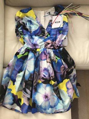 NEU Luxus MSGM Milano Mini Flower Italy Designer Dress Kleid