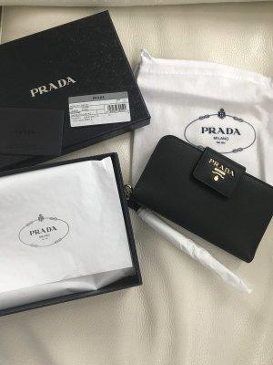 Prada Pochette black-gold-colored leather