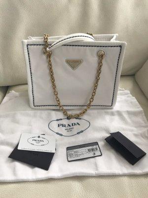 NEU Luxus Prada Milano Nylon Tessuto Chain Logo Tasche Bag