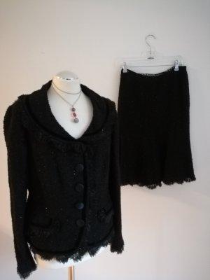 Neu Luxus Rena Lange Kostüm Blazer & Rock Gr 42