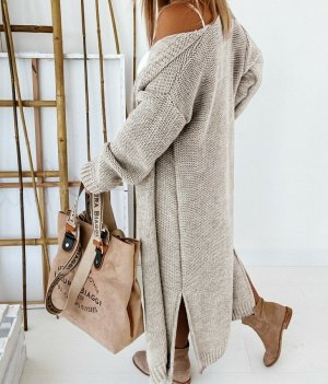 stylelistic Knitted Coat beige-camel
