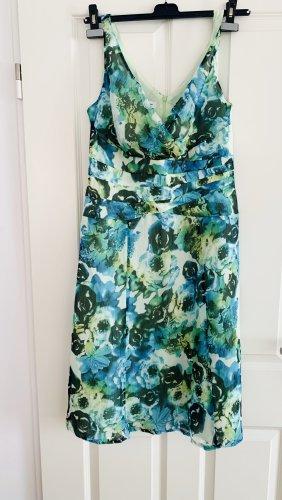 Neu m Etikett - grünes leichtes Sommerkleid Floralprint grün v S- Milton Gr. 40/L A- Line