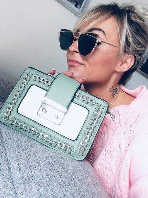 ⋙•-•-•-•➤Neu m. Etikett Nieten Tasche Schmuck Kettenriemen Henkeltasche  Blogger Tasche Hippie Trapez Tasche Clutch Abendtasche Handtasche Schultertasche traumhaftem hell grün ( pastell) im Sale◉