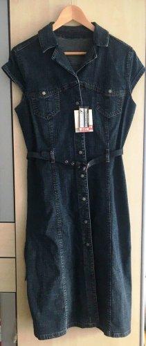 NEU m. Etikett: original MUSTANG Jeanskleid Midi Gr.L blau NP 90€