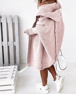 stylelistic Płaszcz z dzianiny stary róż-w kolorze różowego złota
