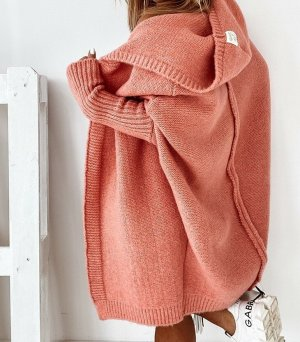 stylelistic Knitted Coat apricot-dark orange