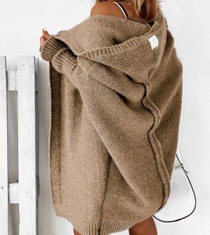 stylelistic Cappotto a maglia marrone chiaro-marrone