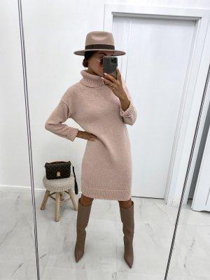 ⋙•-•-•-•➤Neu m. Etikett ◉ Strickkleid Stiefelkleid Longpullover Strickpullover Puderfarbe S M L