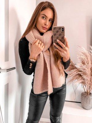 stylelistic Bufanda de punto color rosa dorado