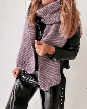 stylelistic Bufanda de punto lila grisáceo