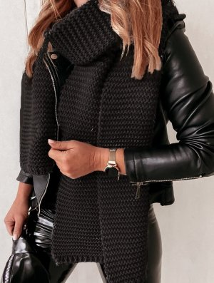 stylelistic Knitted Scarf black