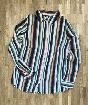 NEU Mango Bluse XS 34 Streifen Top Tunika Shirt Oberteil Hemd Klassisch Business