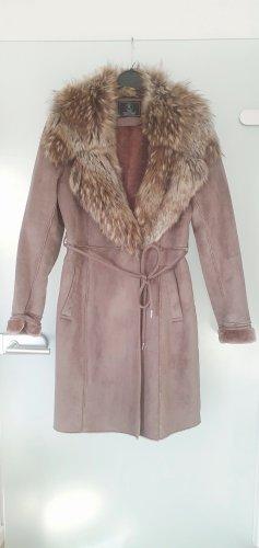 Rino & Pelle Fake Fur Coat light brown