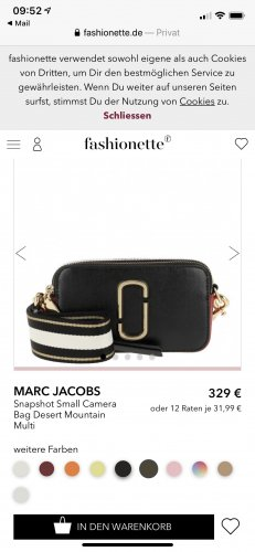 Marc Jacobs Borsetta nero-bianco