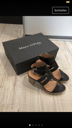 Marc O'Polo Platform High-Heeled Sandal black-nude leather