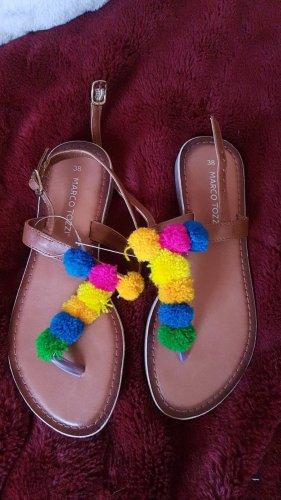 Marco Tozzi T-Strap Sandals brown