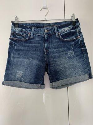Mavi Short en jean bleu acier-bleu