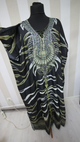 NEU MAXIKLEID KAFTAN KLEID SOMMER BEACH DRESS CHIC