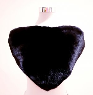 Max Mara Silk Scarf black pelt