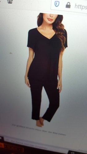 Pyjama zwart Viscose