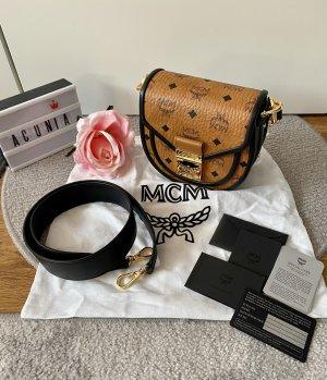 MCM Bolsa de hombro coñac-negro