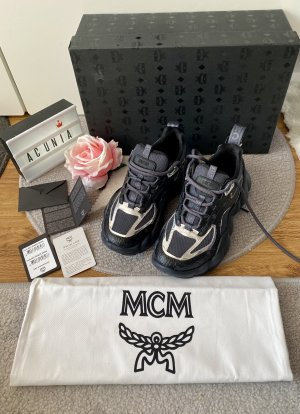NEU MCM Sneaker Himmel schwarz Größe 36