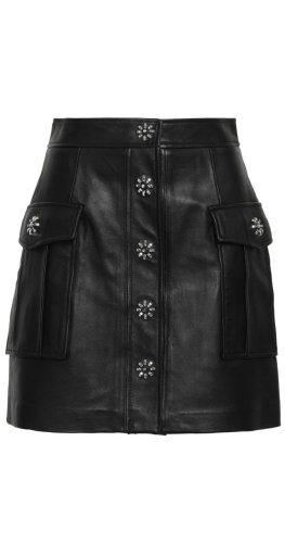 Michael Kors Leather Skirt black leather