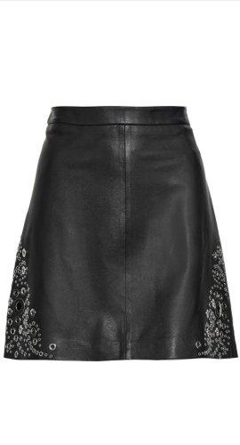 Michael Kors Falda de cuero negro Cuero