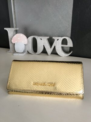 NEU • Michael Kors • Geldbörse • Portemonnaie • Reptilprägung • metallic gold