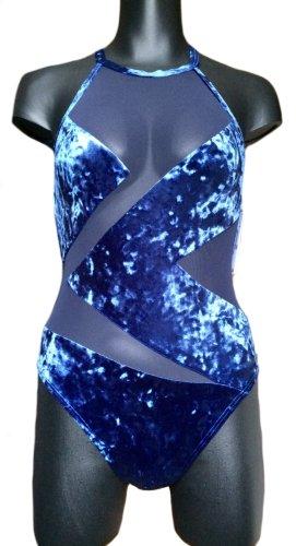 NEU! Michael Kors Sexy Samt-Badeanzug mit Netzteilen