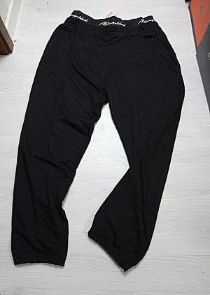 Missguided Pantalone da ginnastica nero-bianco