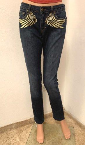 Neu mit Etikett 318€ Just Cavalli Figurbetonte stretch elastische Jeans Röhrenjeans Hose S 26 34 36