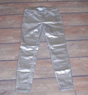 Jeggings silver-colored mixture fibre