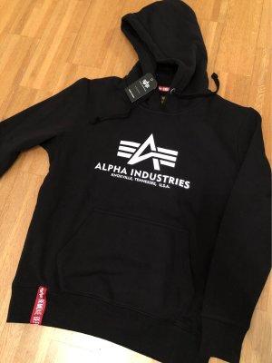 Alpha Industries Hooded Sweater black