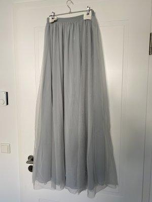 H&M Falda de tul gris pizarra