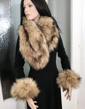 ◉ Neu, mit Etikett: Fake Fur Schal und Pulswärmer ◉