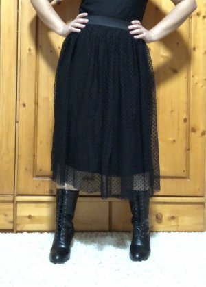 Jean Pascale Tulle Skirt black