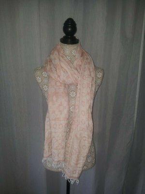 Hallhuber Mantilla rosa-blanco puro Algodón