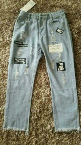 Neu mit Etikett! High Waist Boyfriends 7/8 Jeans mit Applikationen Gr.S