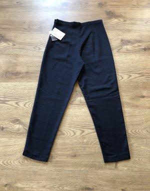 0039 Italy Peg Top Trousers dark blue