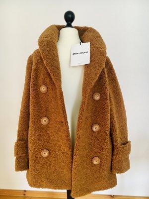 Neu mit Etikett: Jacke, Caban Style. Cabanjacke, Teddyjacke, faux fur, Winterjacke, Stand Studio
