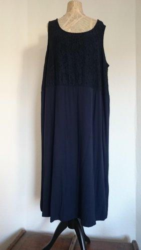 Sara Lindholm Vestido corte imperio azul oscuro Viscosa