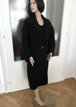 Zara Oversized Coat black mixture fibre
