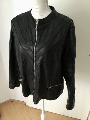 Alba Moda Leather Jacket black leather