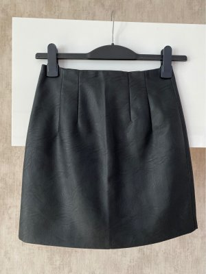 Topshop Gonna in ecopelle nero