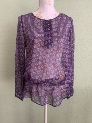 3 Suisses Slip-over Blouse dark violet-white