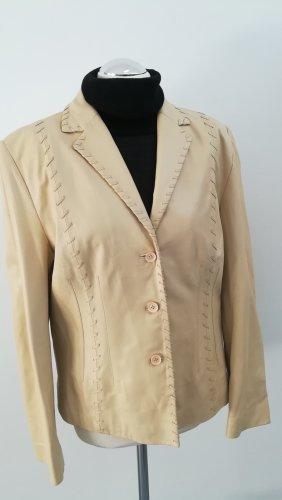 Taifun Collection Vestido de cuero crema-beige claro